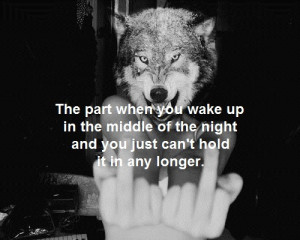 cry, night, sad, tears, wolf