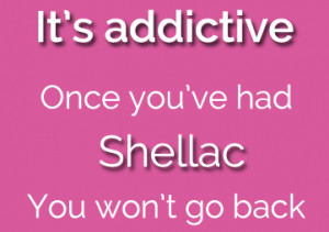 Shellac Nails are addictive, available at cg nail salon regina