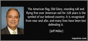 American flag, Old Glory, standing tall and flying free over American ...