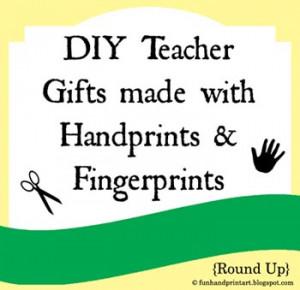 Teacher Appreciation Gifts made with Handprints & Footprints
