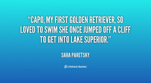 Capo, my first golden retriever, so loved to swim she once jumped ...