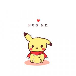 alone, hug, love, pokemon, quotes