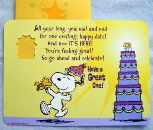 Snoopy Happy Birthday Dad Greeting Card Ebay