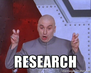 Dr. Evil Air Quotes - Research
