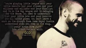 CM Punk - Royal Rumble 2013 quote