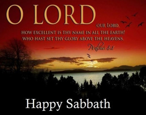 Happy Sabbath...