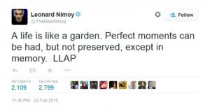 Leonard Nimoy Hospitalized: 'Star Trek' Star in 911 Call for Chest ...