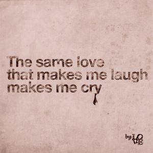 couple, cry, laugh, love, quote, smile