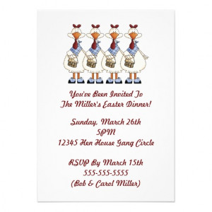 Funny Dinner Party Invitation Wording Easter dinner party invites
