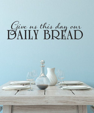 Take a look at this Black 'Daily Bread' Wall Decal on zulily today!