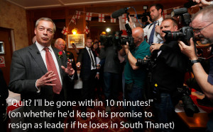 Nigel Farage quotes from the 2015 general election campaign trail