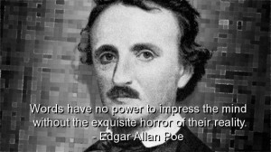 Edgar allan poe, best, quotes, sayings, famous, reality, horror