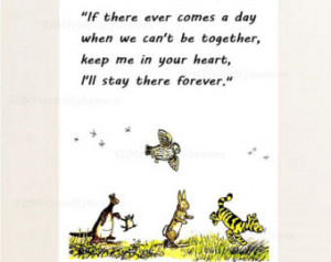 Quote Print , Winnie the Pooh Nursery Decor, Kanga, Roo, Rabbit, Owl ...