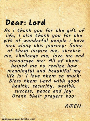 ... Thankful for the Gift of Life, Thank you for the wonderful people
