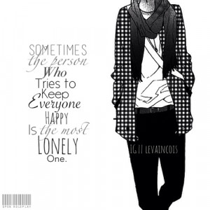 ... tags for this image include: manga, anime, monochrome, sad and quote