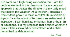 Haim Ginott Quotes