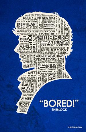Sherlock on BBC One Sherlock Quote Poster