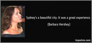 More Barbara Hershey Quotes
