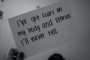 cut, never, quote, scars, words
