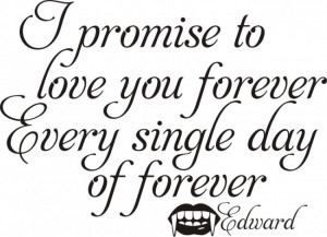 Promise To Love You Forever Evey Single Day OF Forever