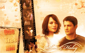One Tree Hill nathan & haley wallpaper
