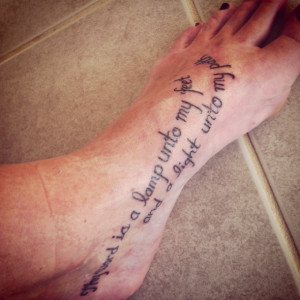 Bible Love Quotes Tattoo Bible quote foot tattoo