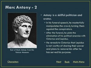 Mark Antony Rome | Mark Antony Julius Caesar Quotes