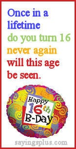 sayingsplus.comSweet 16 Quotes, Sayings and Greetings