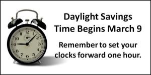 Daylight Savings Time Spring Forward