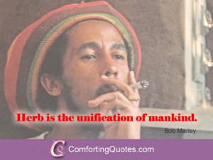 Bob Marley Marijuana Quote – Weed and Mankind
