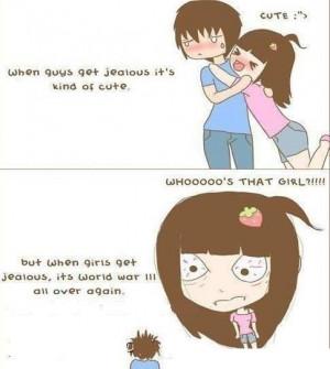 When Girls Get Jealous !!.....