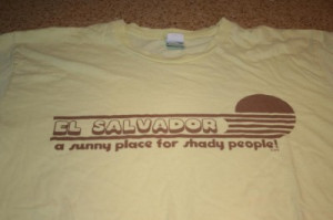 Details about Funny El Salvador Shaddy People Novelty T-shirt Large