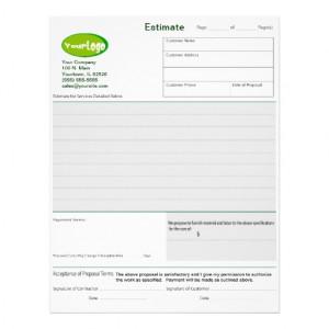 estimate_quote_job_proposal_forms_letterhead ...