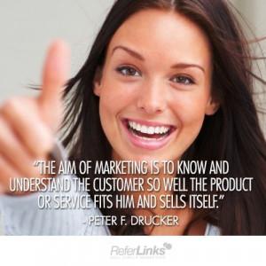 Customer service, quotes, sayings, marketing aim