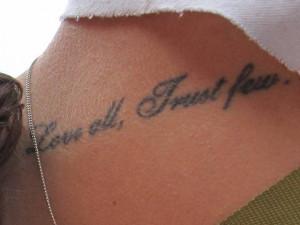 Trust Tattoo Quotes Pictures