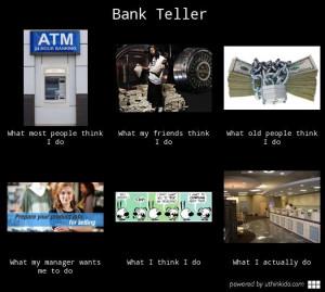 funny bank teller meme