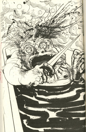 Ralph Steadman- Dr. Gonzo in the tub