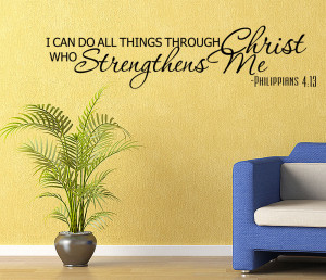 ... Bible verse Vinyl Wall quote Decal home Decor Wall Sticker Removable