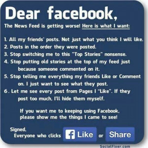Facebook love & hate