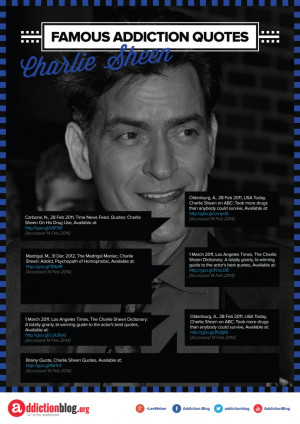 Famous Addiction Quotes Charlie Sheen [Reference Sources]