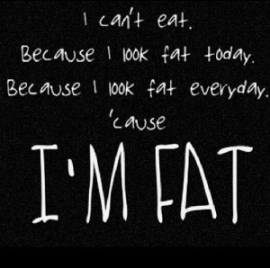 anorexia, self hate, text