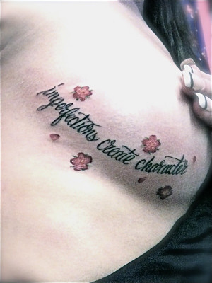 ... - from Ellen Hopkins most recent book Perfect. My newest tattoo