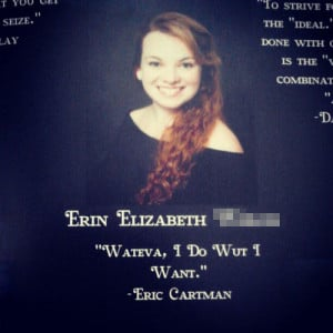 funny yearbook quotes cartman
