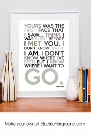 Bright Eyes Framed Quote