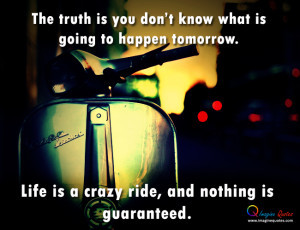 Life quote with an bike, Bike is stopping on the road