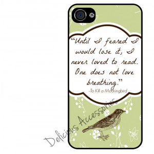 TO KILL a MOCKINGBIRD Book Quote Black SILICONE Case for Apple Iphone ...