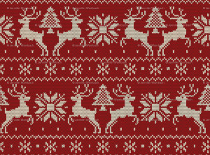 Ugly Christmas Sweater Pattern Wallpaper Dad's ski sweater