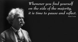 Mark twain business time quote