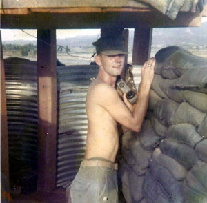 Everett Seed at Bunker 25 An Hoa Combat Base 1969