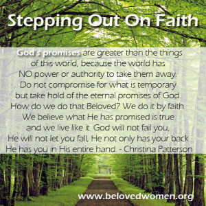 Stepping Out On Faith Quotes